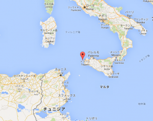 アエガデス諸島の位置