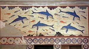 クノッソス宮殿内のフレスコ画