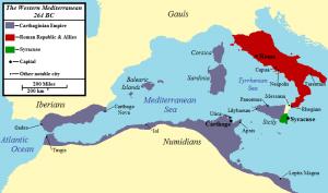 開戦当時のローマとカルタゴの勢力図