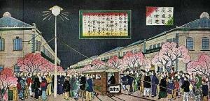 日本初の電燈点灯