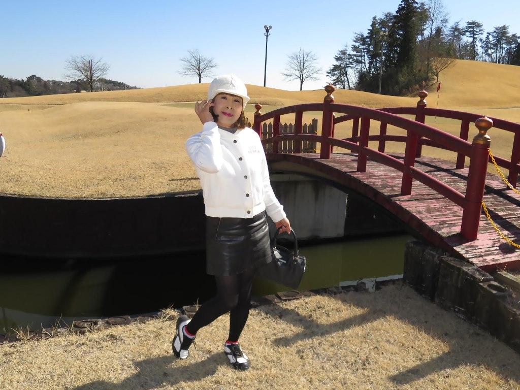冬ゴルフ白ブルゾンB(2)