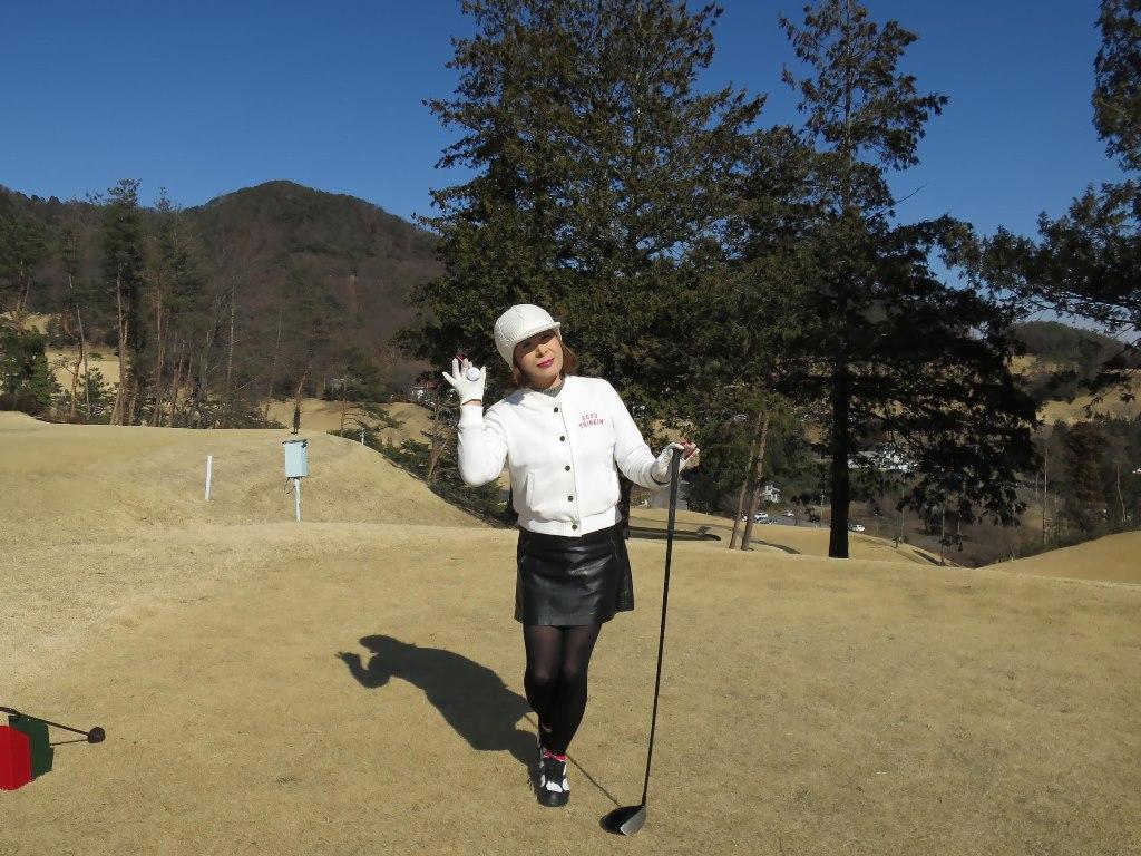 冬ゴルフ白ブルゾンC(5)