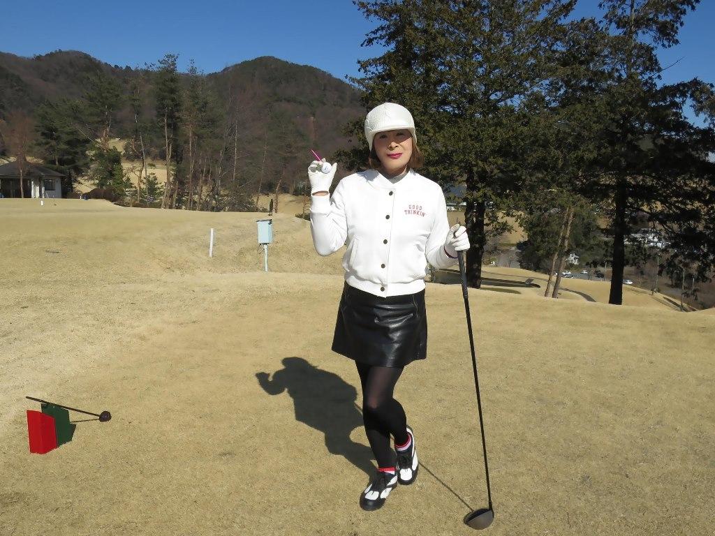 冬ゴルフ白ブルゾンC(6)