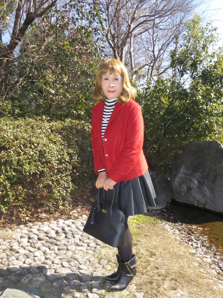赤ブレザー黒スカートA(5)