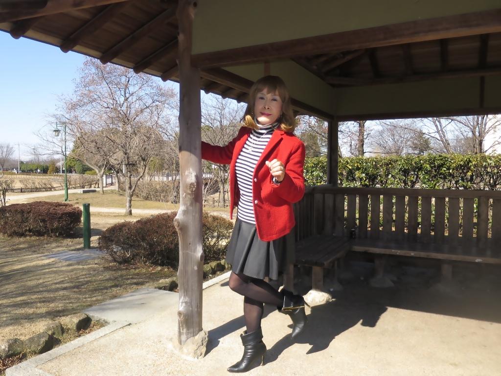 赤ブレザー黒スカートB(1)