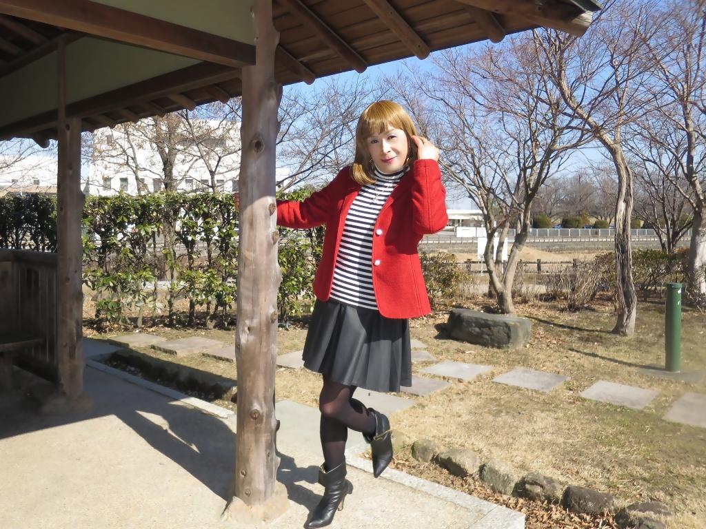 赤ブレザー黒スカートB(4)