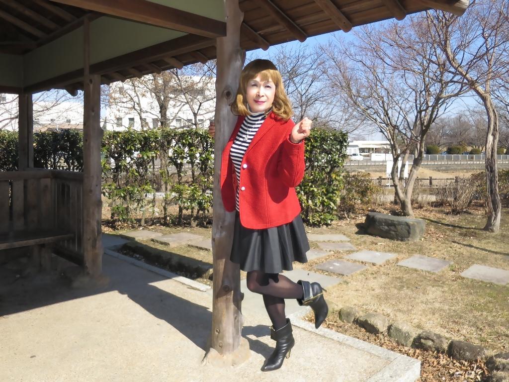 赤ブレザー黒スカートB(5)