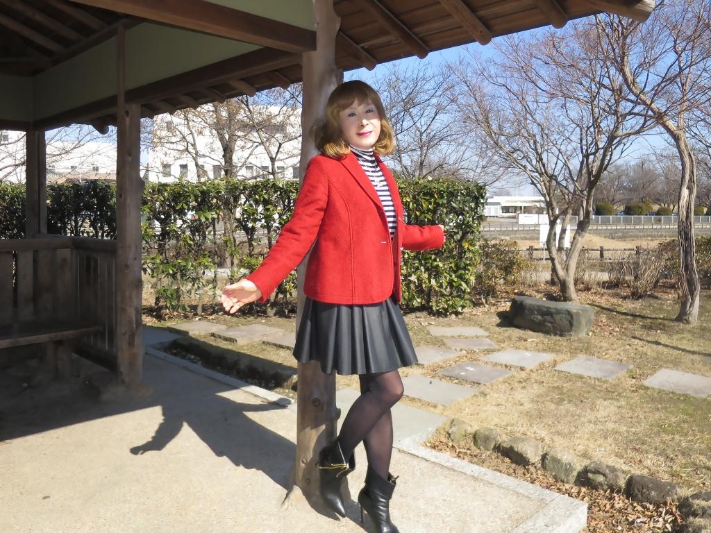 赤ブレザー黒スカートB(7)