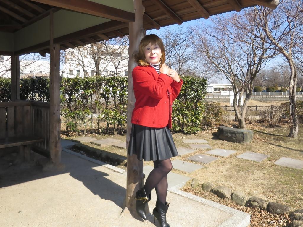 赤ブレザー黒スカートB(8)