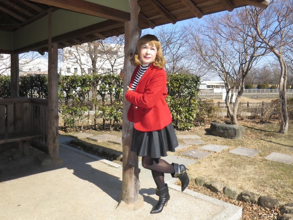 赤ブレザー黒スカートB(6)