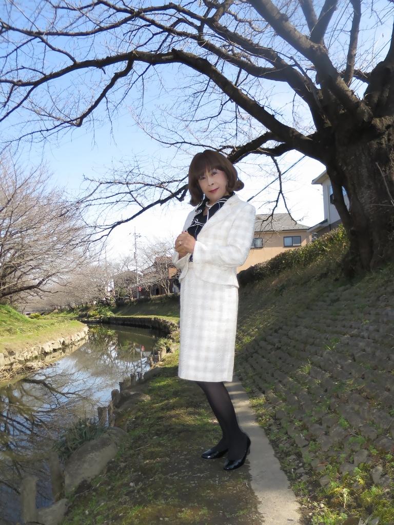 ホワイトベージュのスーツA(3)