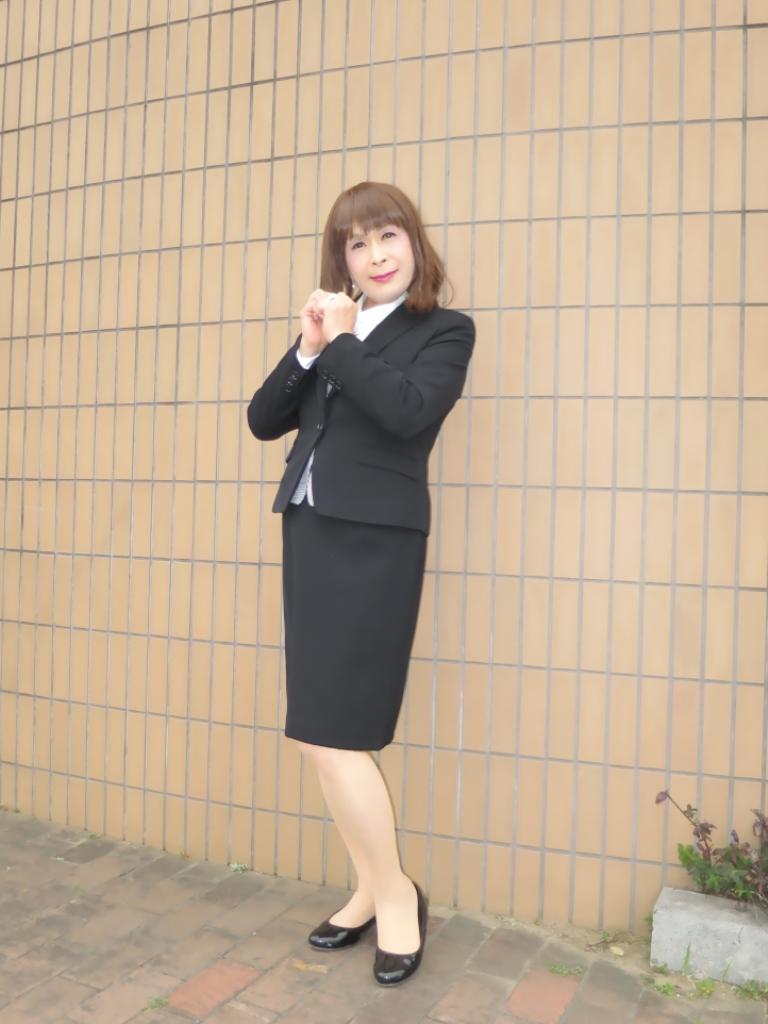 OL黒スーツ (5)