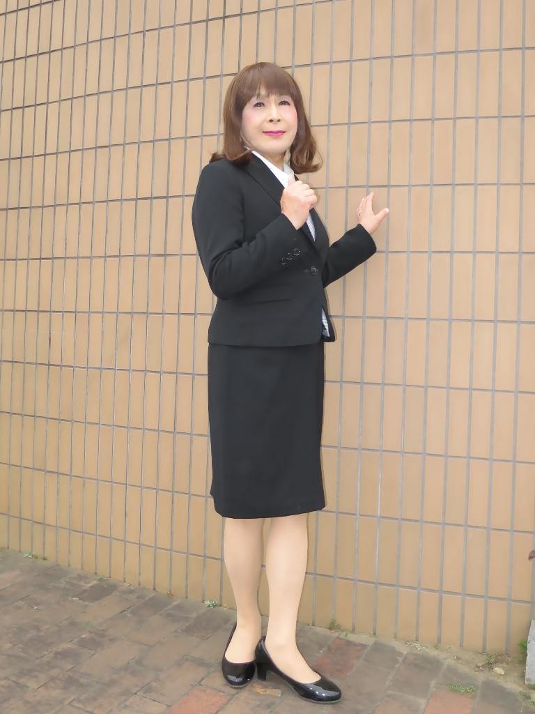 OL黒スーツ (7)