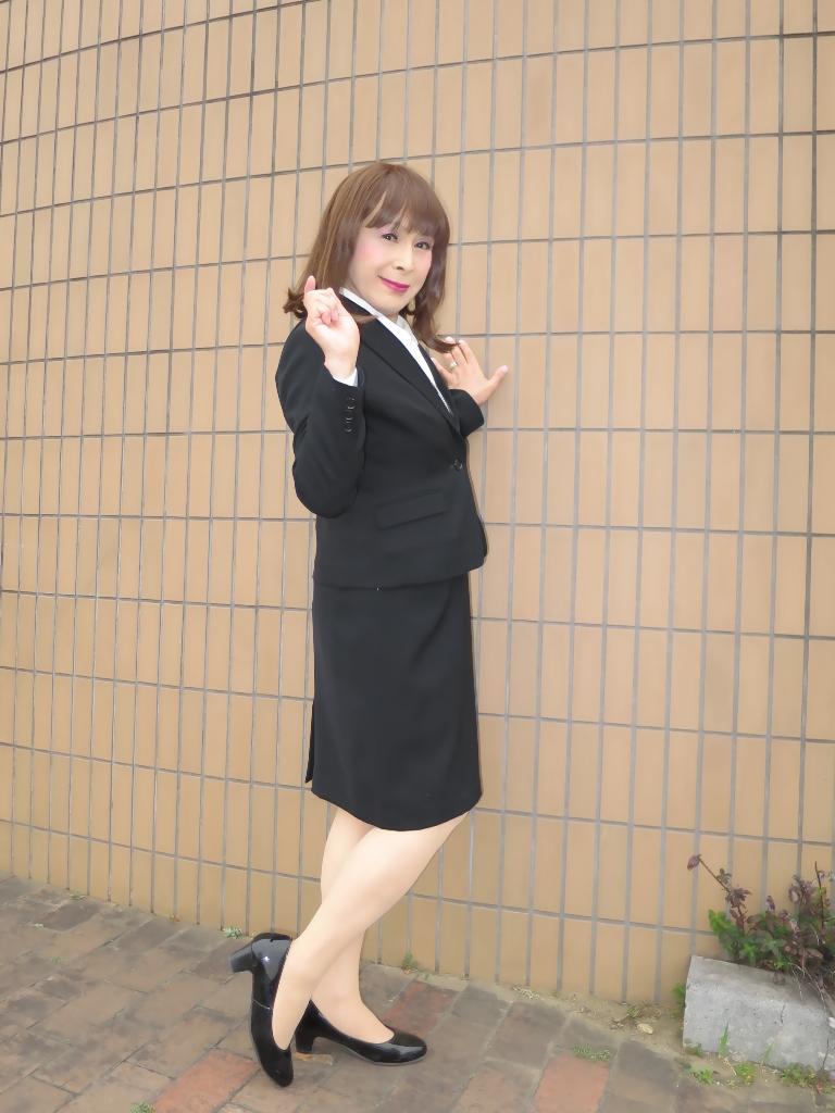 OL黒スーツ (9)