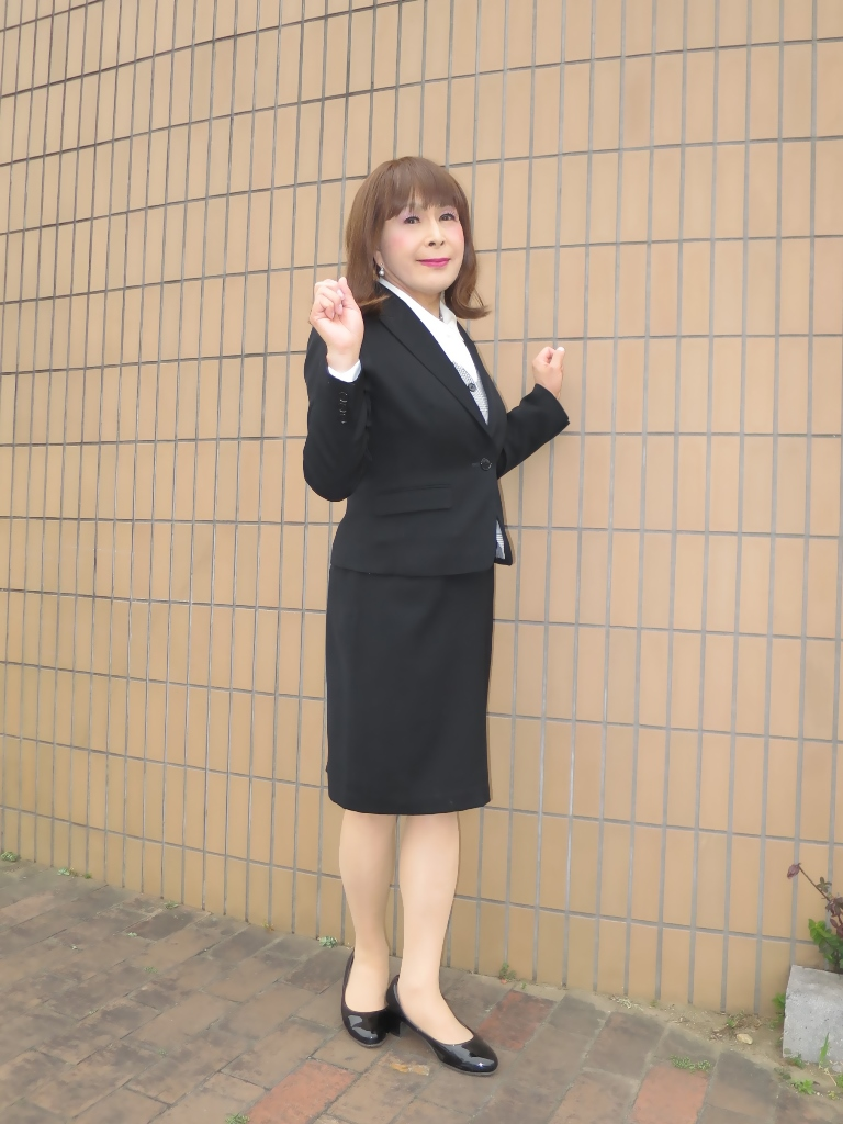 OL黒スーツ (10)