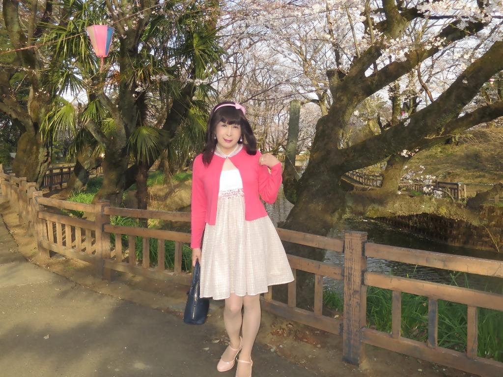 ワンピとピンクカーデD(2)