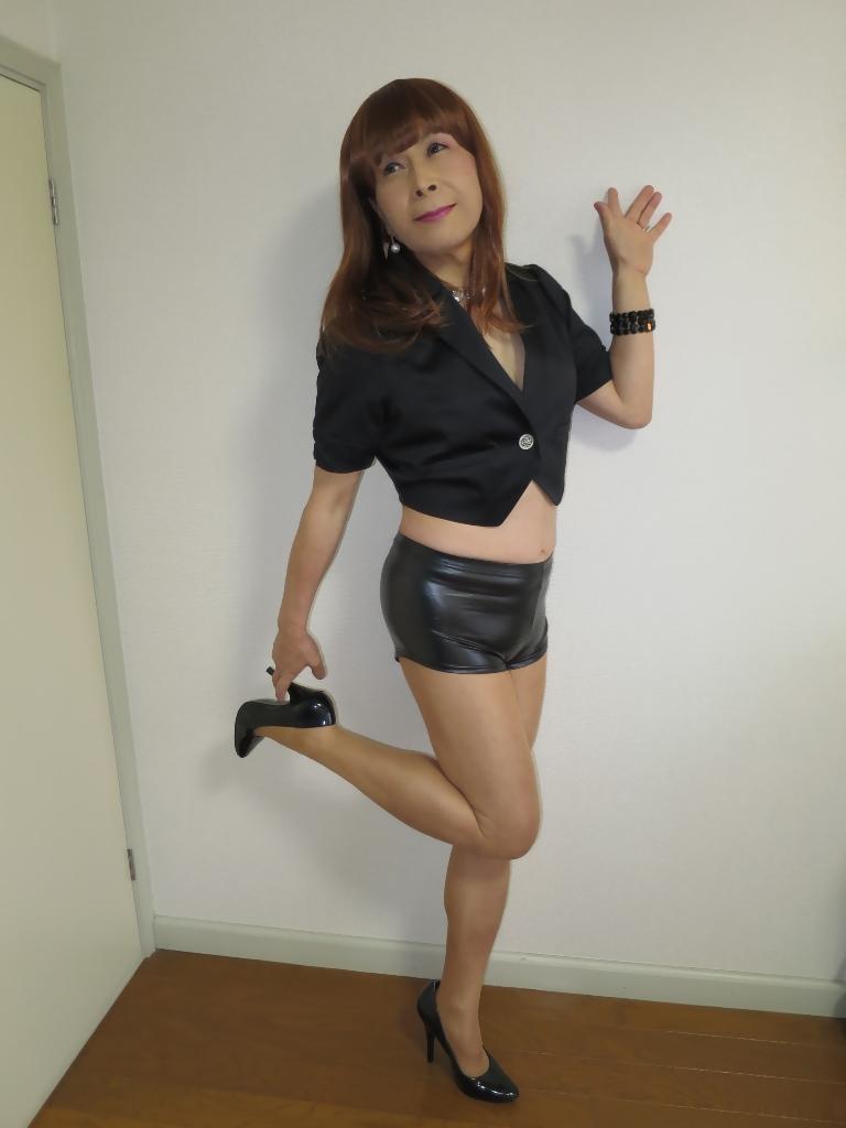 黒ショーパン紺ジャケットA(1)
