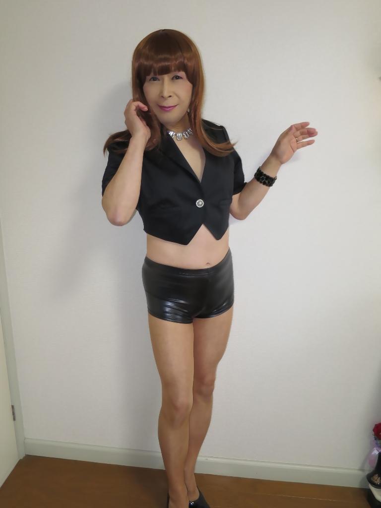 黒ショーパン紺ジャケットA(2)