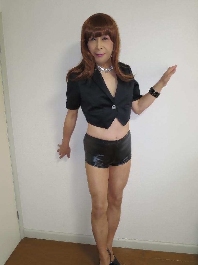黒ショーパン紺ジャケットA(3)