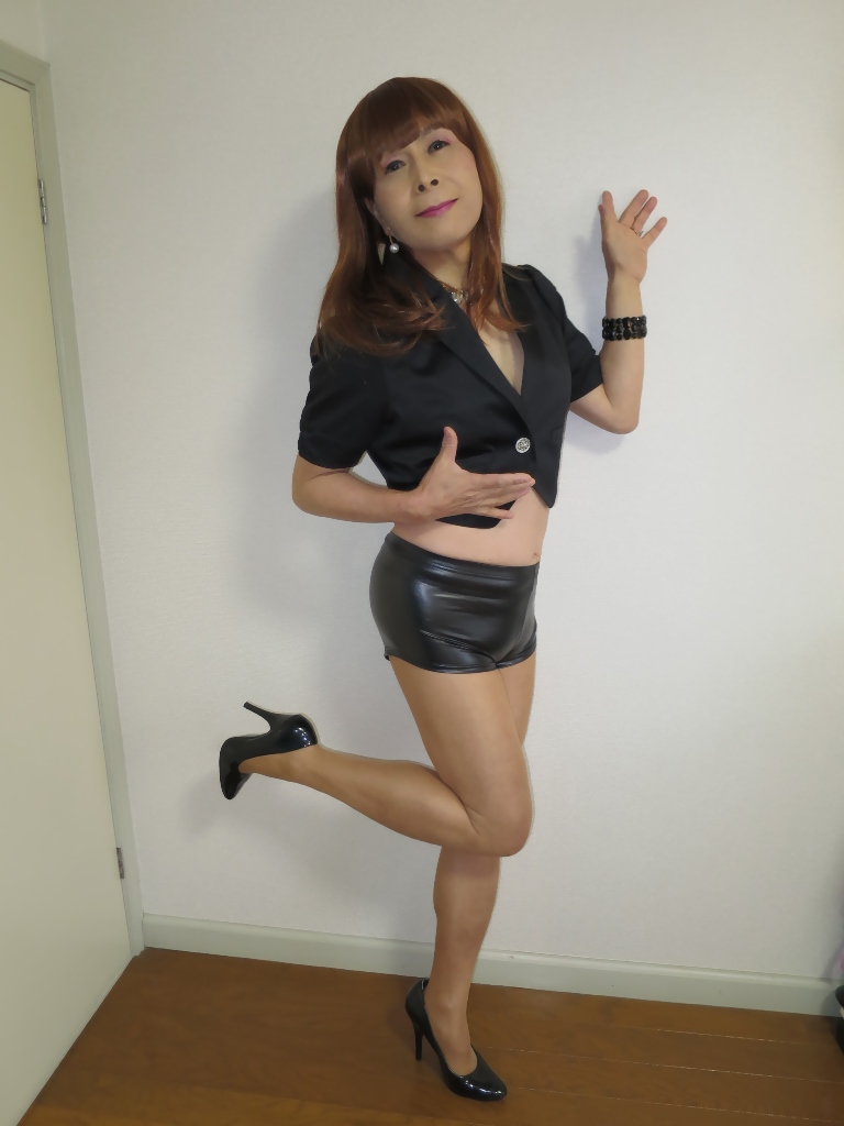 黒ショーパン紺ジャケットA(4)