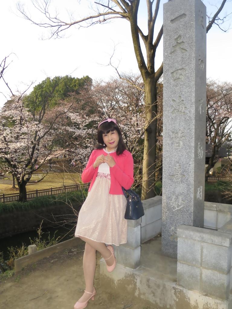 ワンピとピンクカーデC(2)