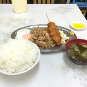 IMG_1658日替焼肉と串カツ