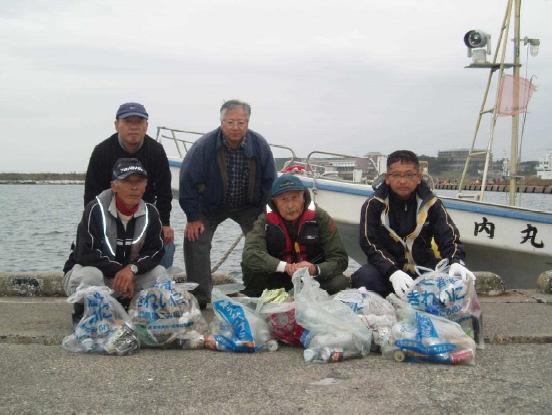 ゴミ拾い真鯛釣り大会2012