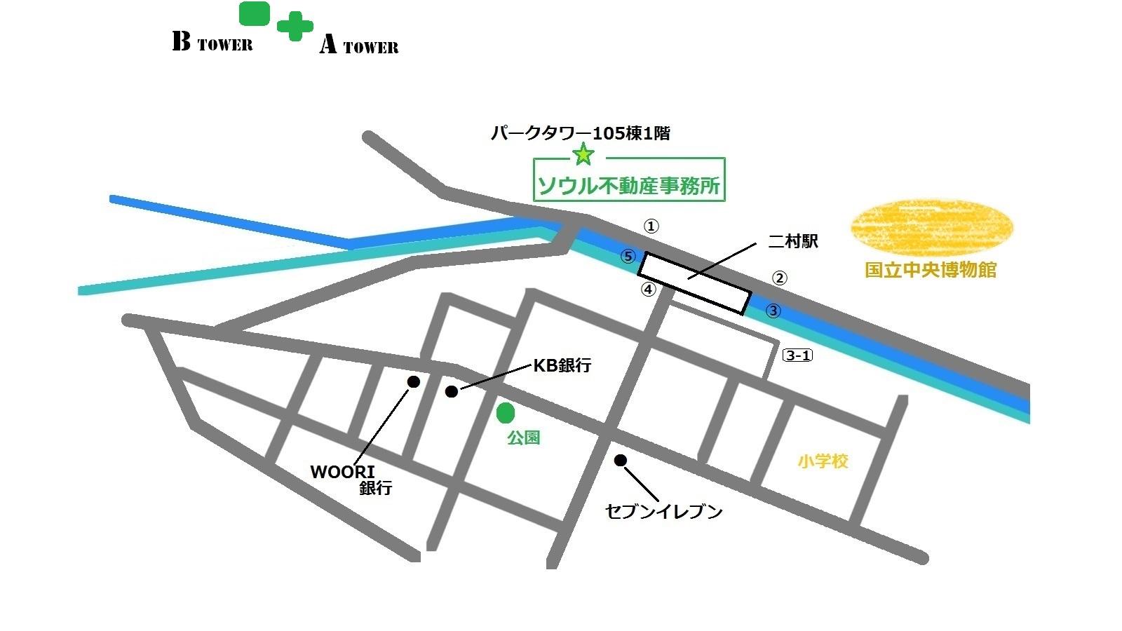 アステリウム 地図