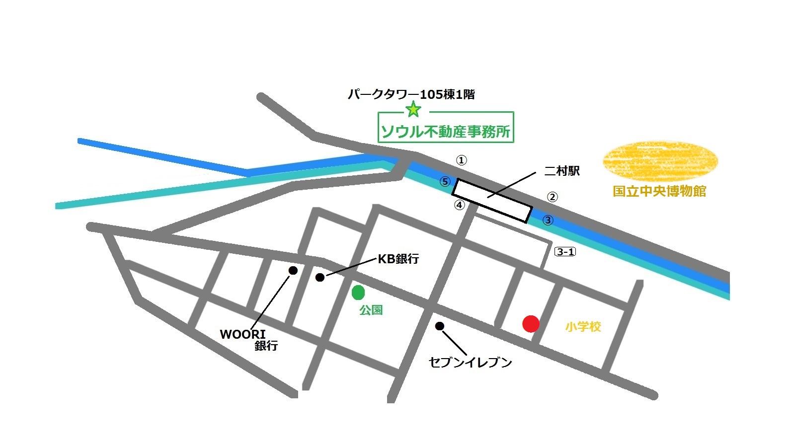 韓国 二村 日本語対応 AZURA 地図