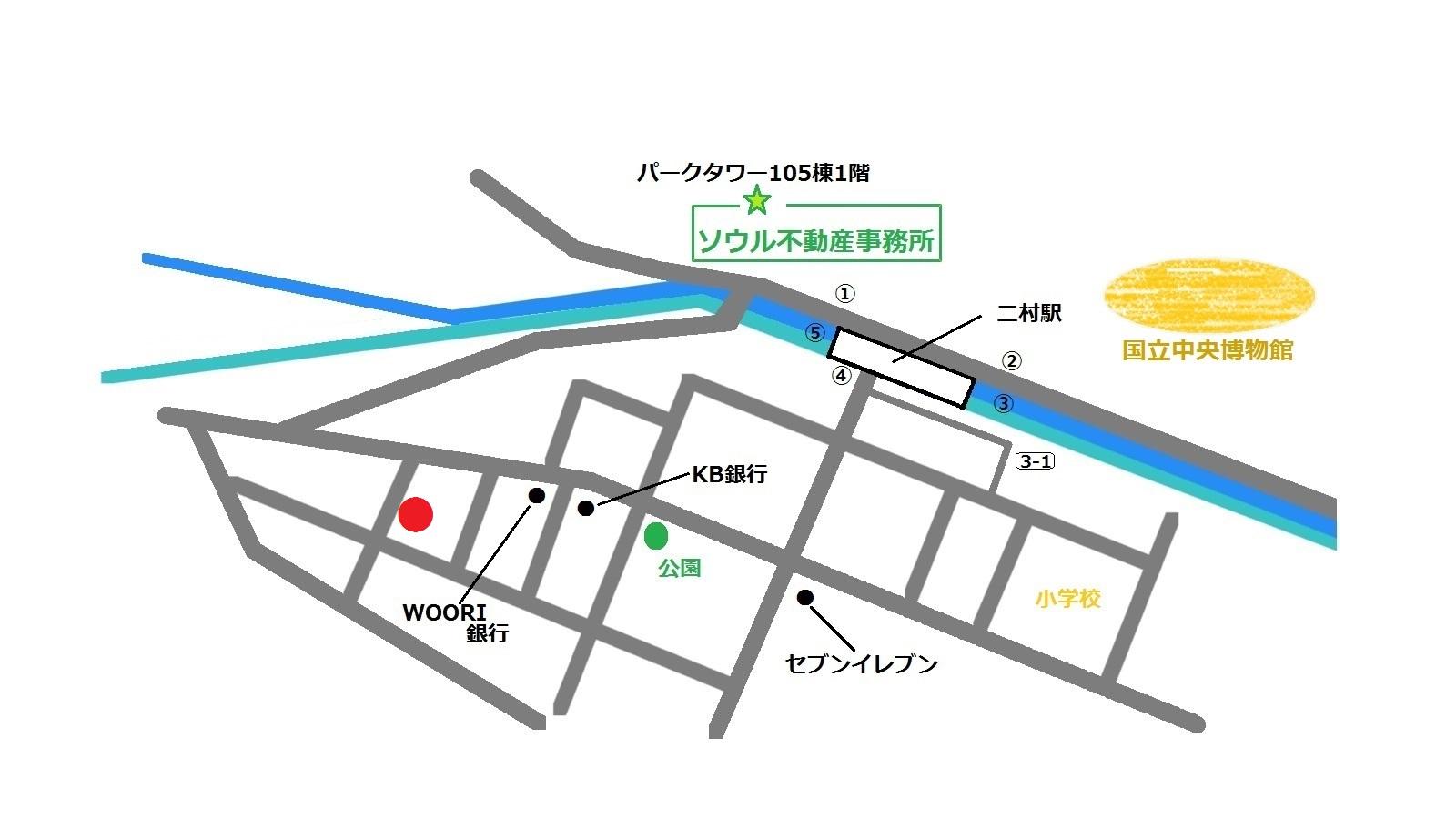 韓国 二村ステイク 이촌스테이크 地図