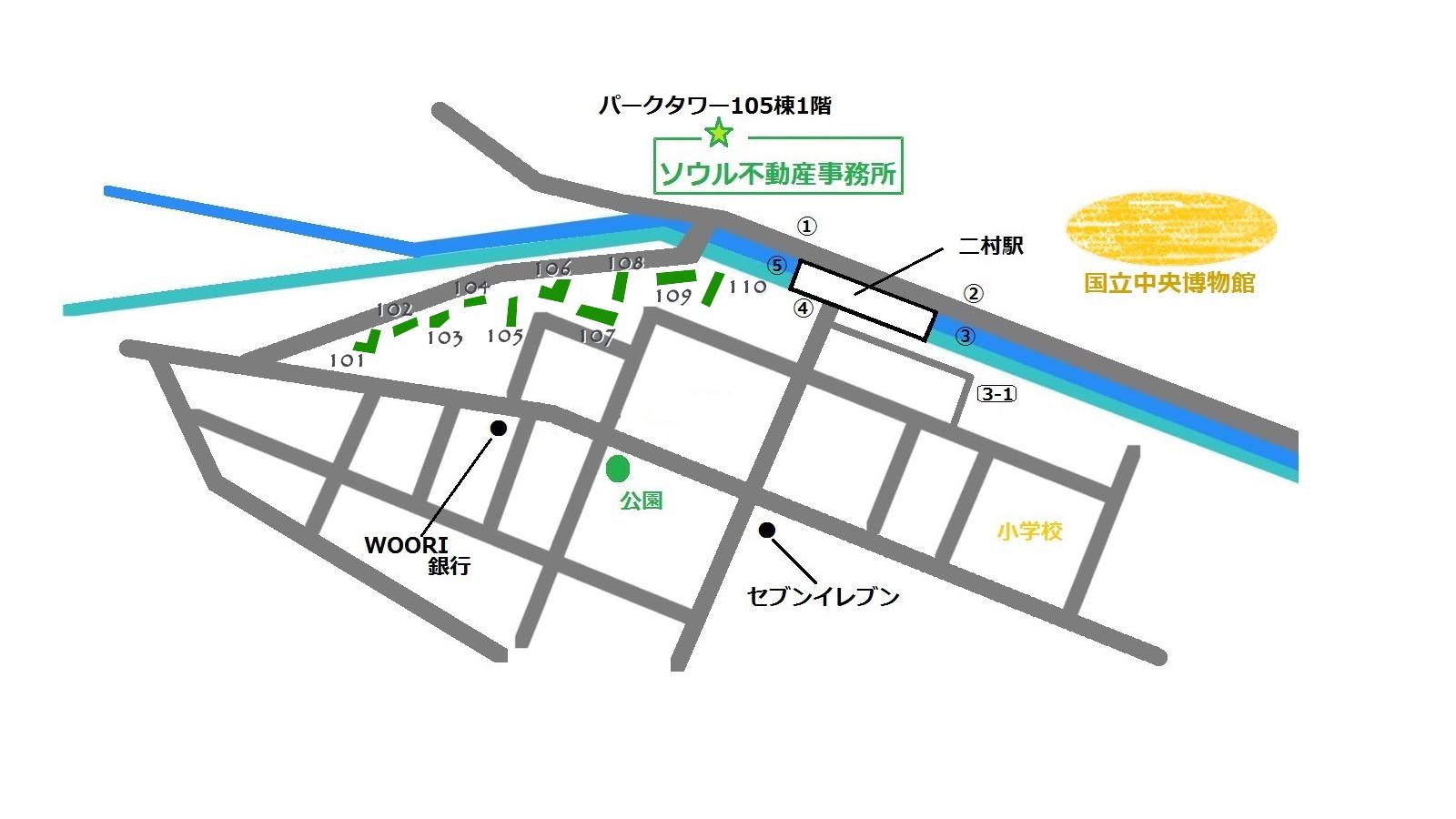 ハンガンデウアパート 地図