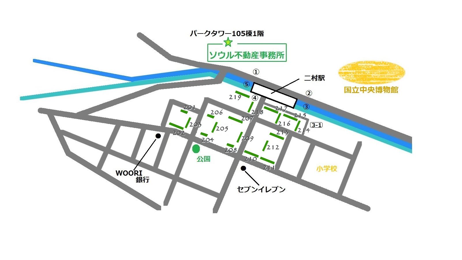 ハンガラムアパート 地図