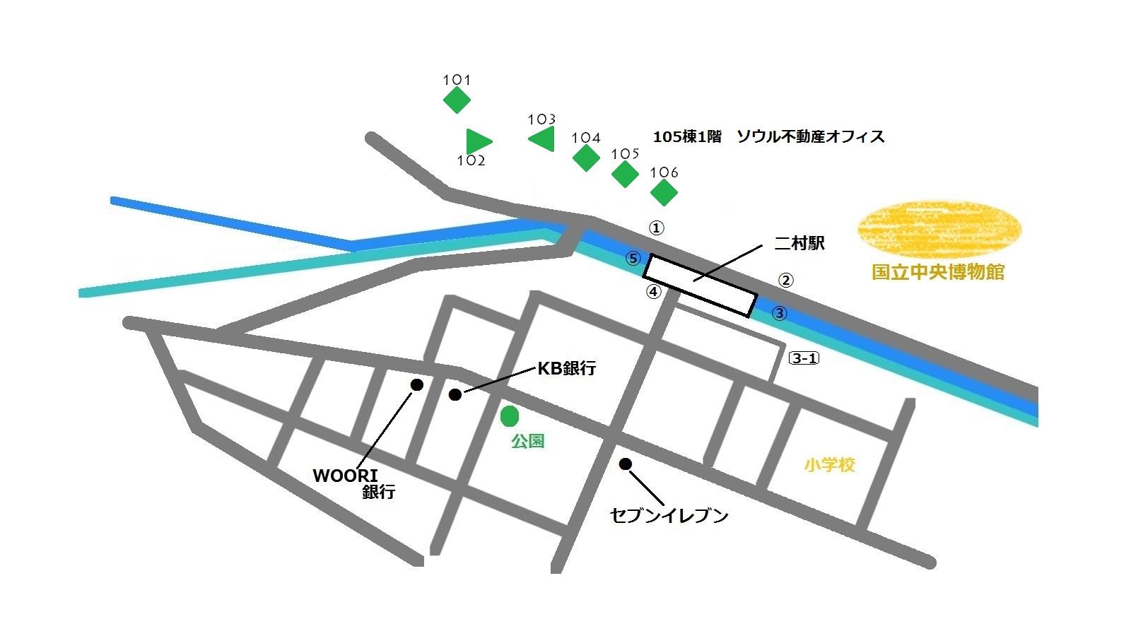 龍山 パークタワー 地図