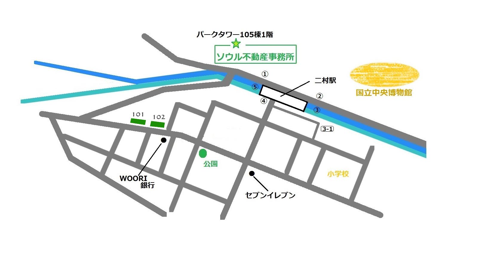 二村ウソンアパート 地図
