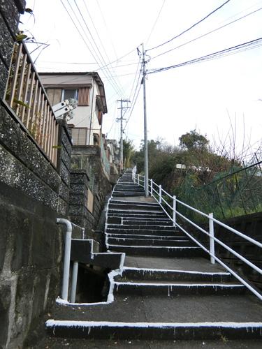 十字架山への階段です。