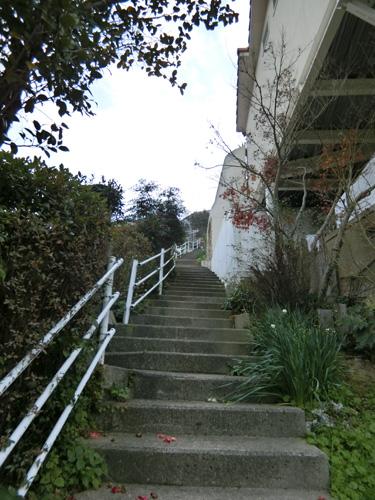 階段、急だよね。