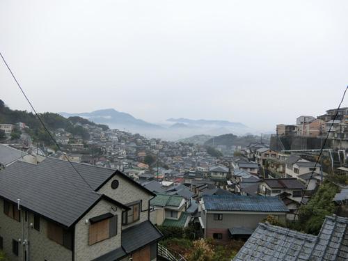 今日は雨です。