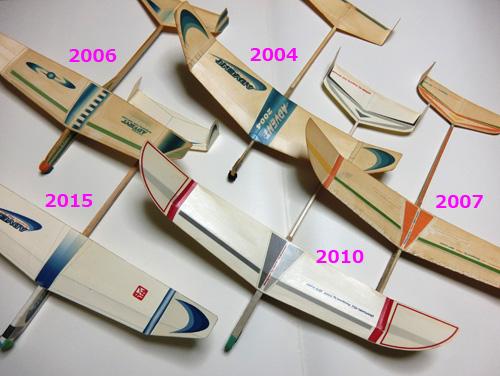 アノ方の歴代の機体・・・です。