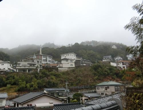 今日も朝霧が。