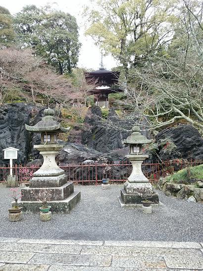 石山寺多宝塔を望む