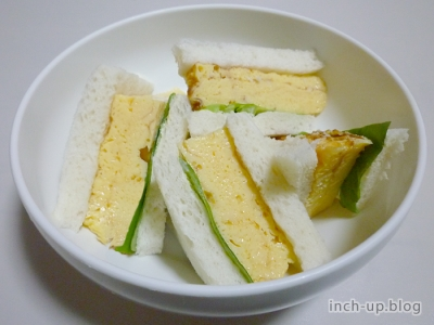厚焼き玉子のサンドイッチ