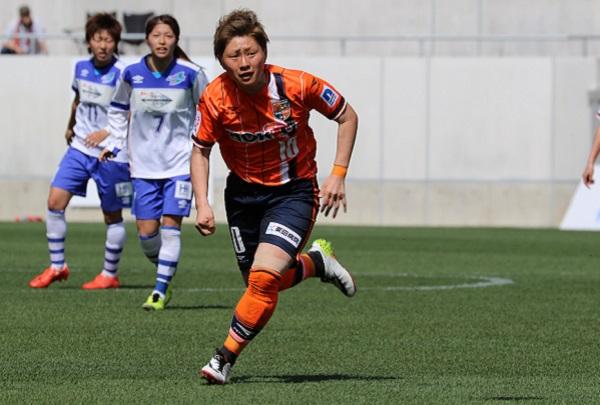 AC長野のエース・横山久美。この日は2得点1アシストの活躍を見せた