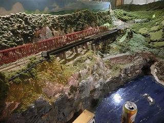 レイアウト裏手の鉄橋部分