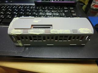 再度パテ埋めした銚子電鉄デハ1001