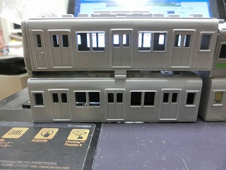 「西武鉄道 6157F」の製作を開始したボディー&前面②