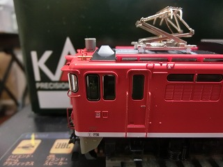 フジモデル製「塗手すり」を取付けた「KATO EF65-1118」②