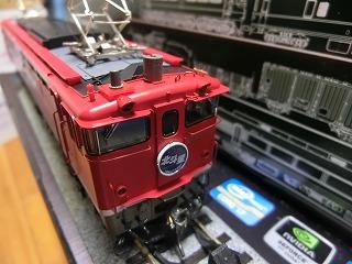 フジモデル製「塗手すり」を取付けた「KATO EF65-1118」③