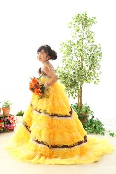 七五三群馬伊勢崎りこちゃん洋装ドレス自然光