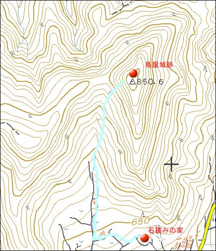 鳥屋城跡地図