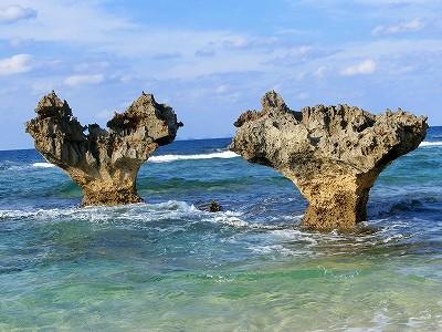 ハートの岩